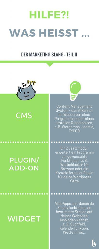 Infografik CMS, Plugin, Widget