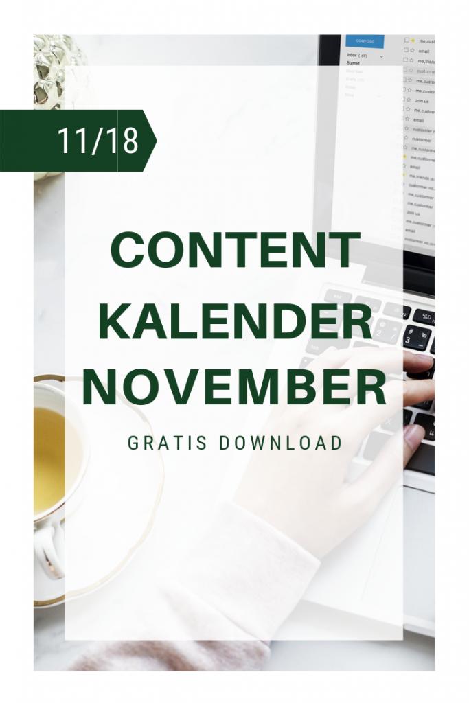 Titelbild Content Kalender November