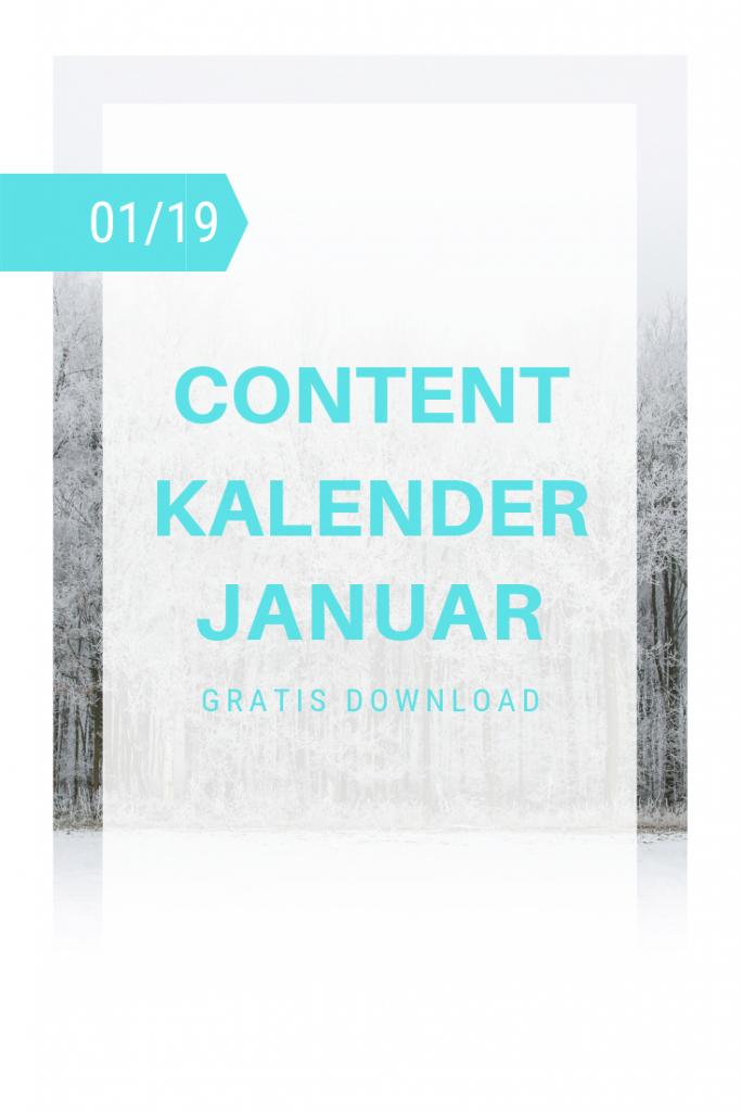 Januar Content Kalender Cover