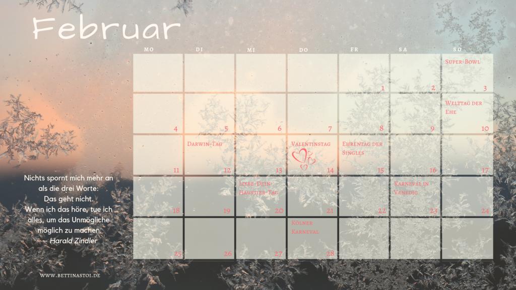 Content Kalender Februar 2019