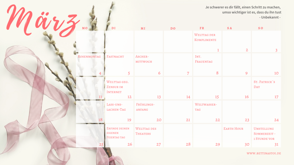 03-Content Kalender März 2019