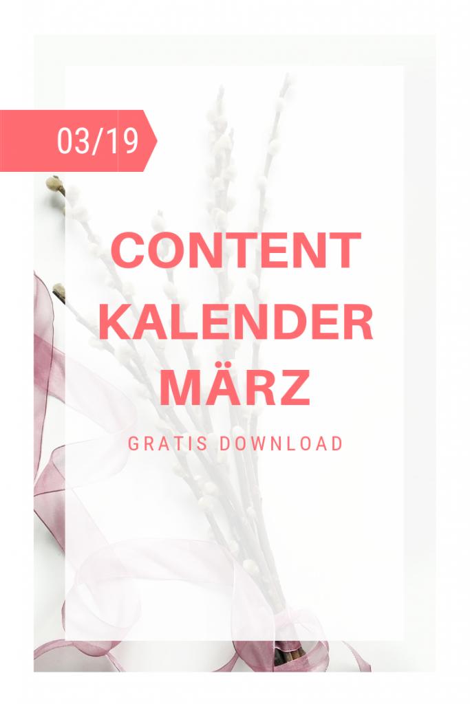 Content Kalender März Coverfoto