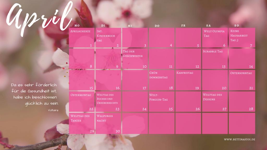 Content Kalender April