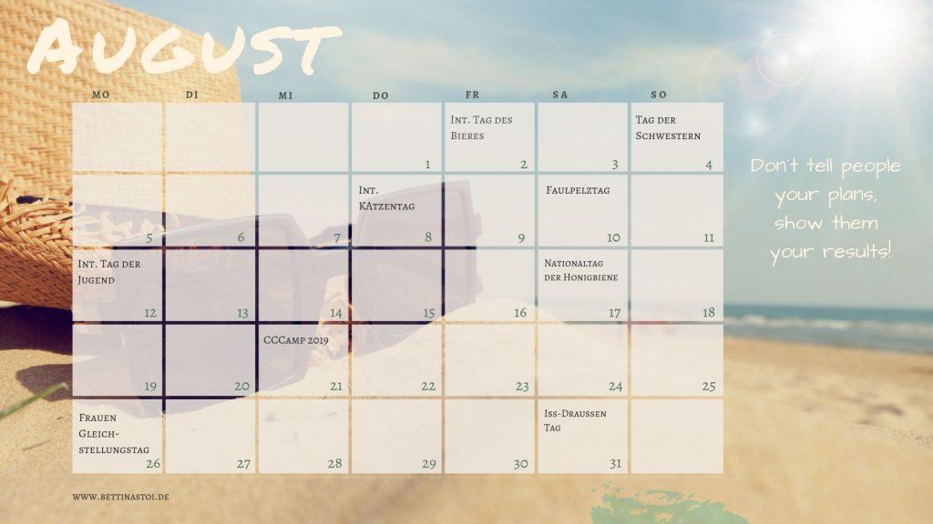 Content Kalender August