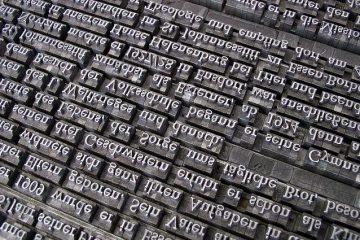 Buchstaben Bleisatz