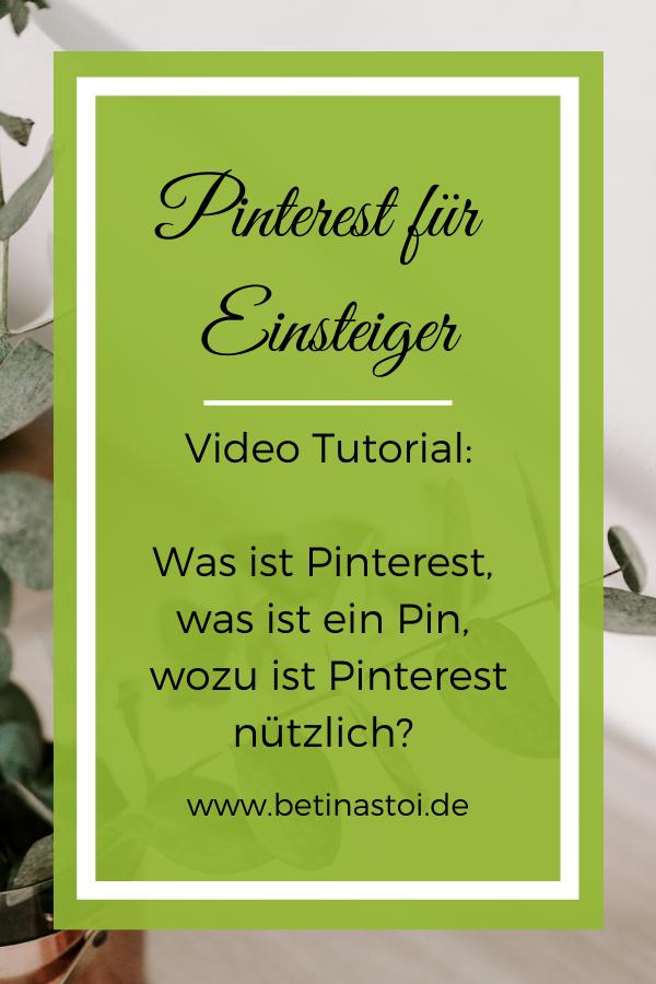 Pinterest Videotutorial für Einsteiger Grafik