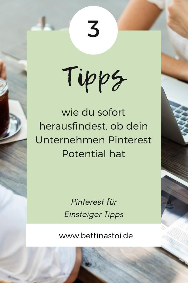 Pin Blogartikel 3 Tipps für Pinterest Potential