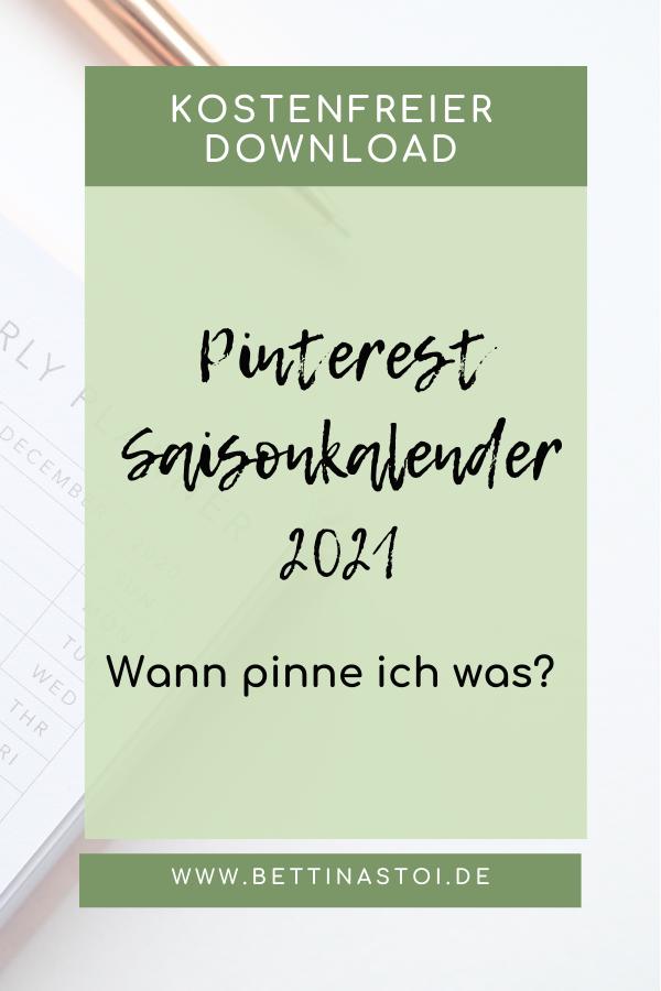 Pins Blogartikel Pinterest Saisonkalender