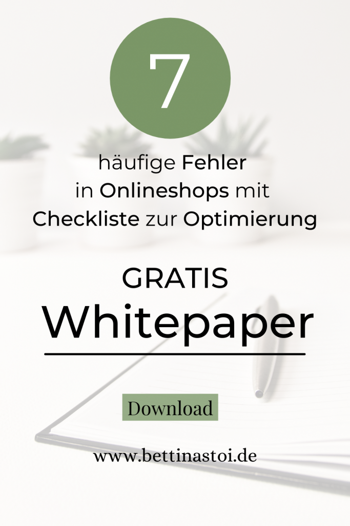 Grafik Whitepaper für Onlienshops
