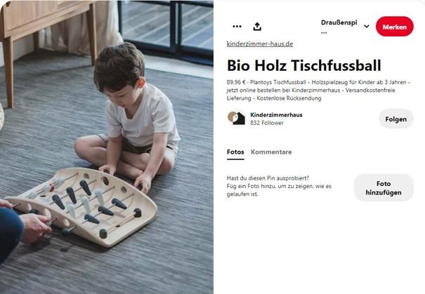 Pinterest Produktpin Beispiel