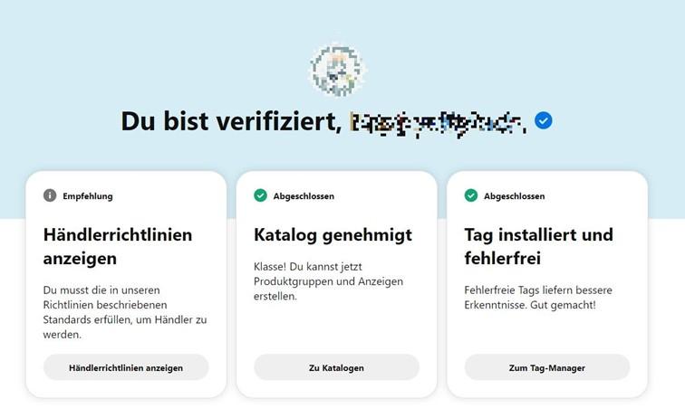 Pinterest Verifizierte Händler Programm genehmigt